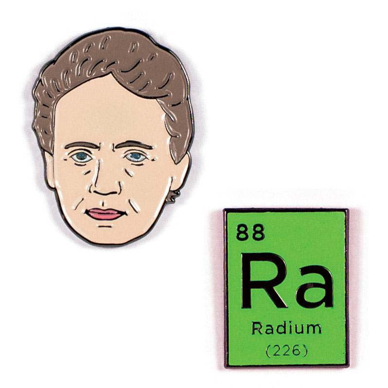 Marie Curie & Radium Pin Enameled Pin Set