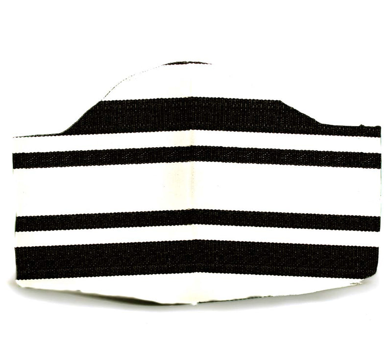Black Striped Adult Mask
