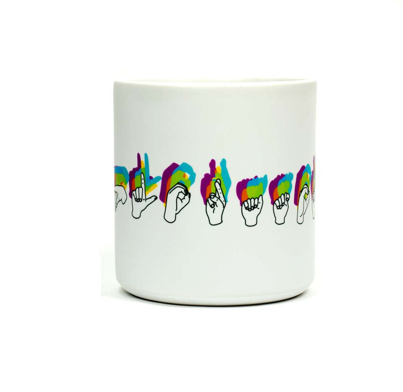 Exploratorium American Sign Language Mug