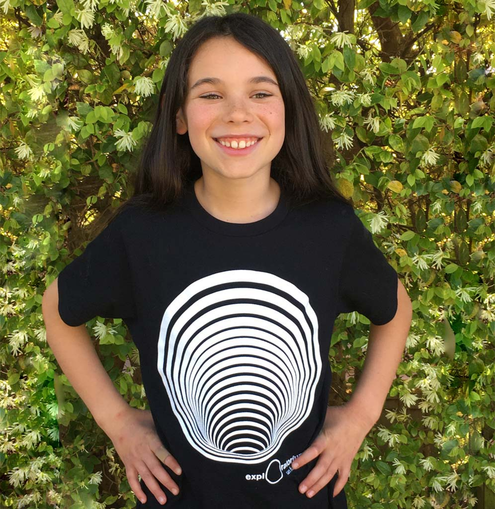Exploratorium Optical Illusion Wormhole T-Shirt (Youth)