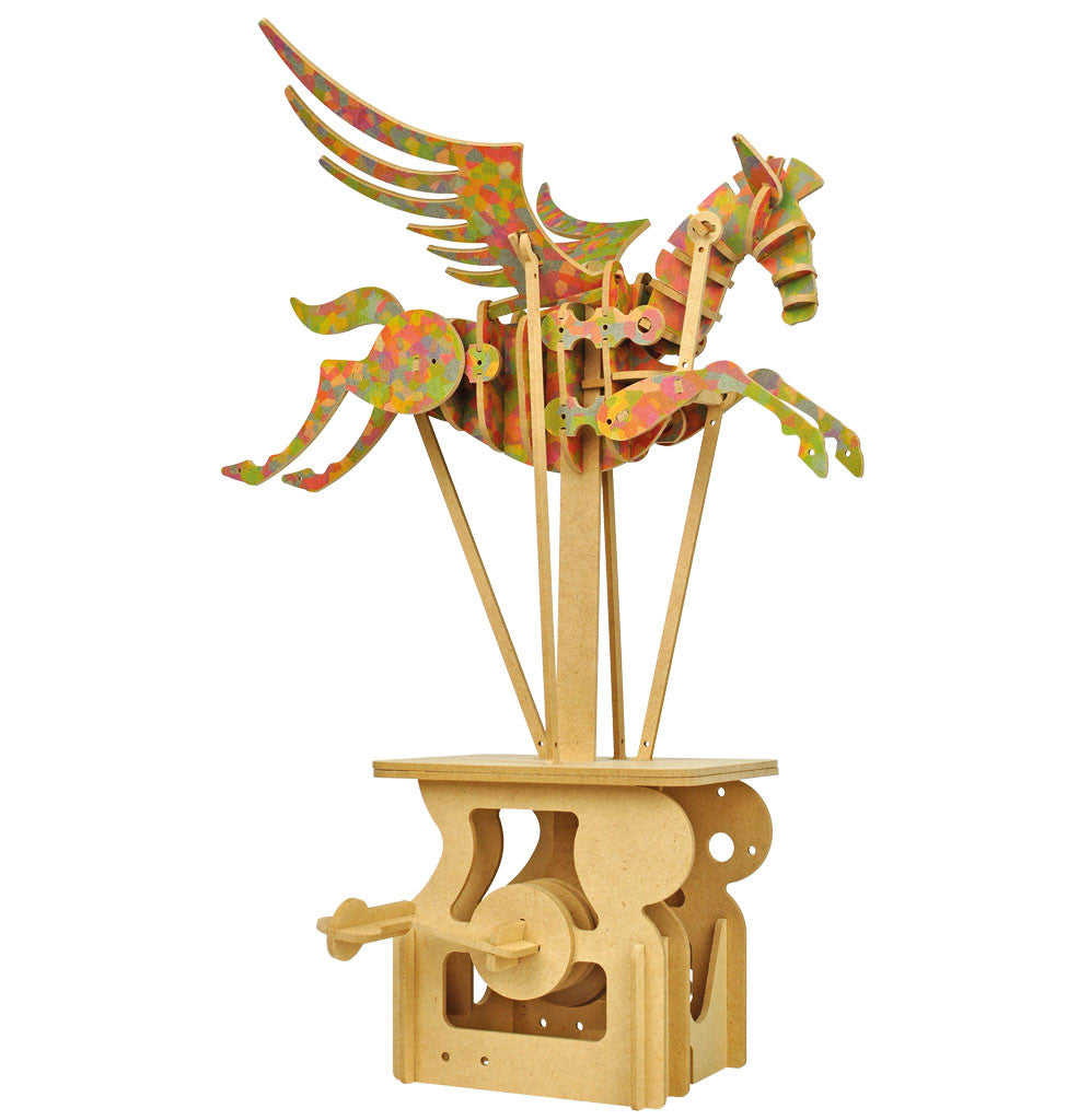 Keith Newstead's Pegasus Wooden Automata Kit (Colorful)
