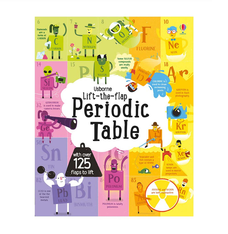 Lift-the-flap Periodic Table by Alice James and Shaw Nielson