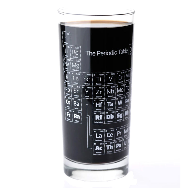Periodic Table Drinking Glass