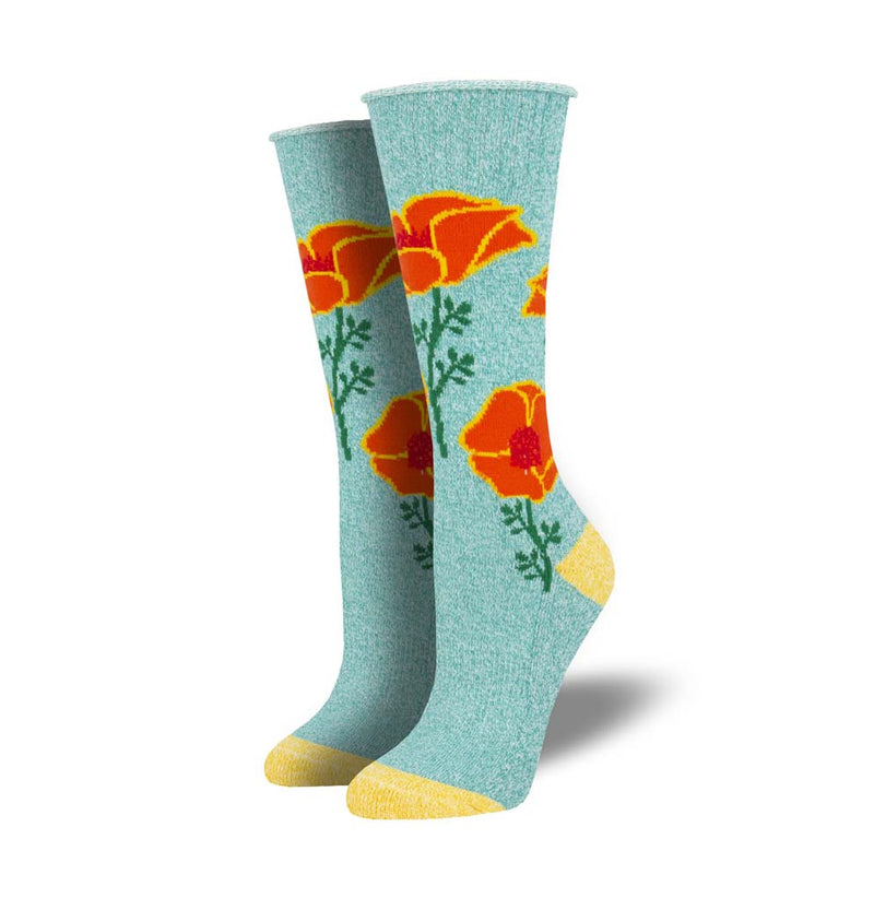 California Poppy Recycled Cotton Sock