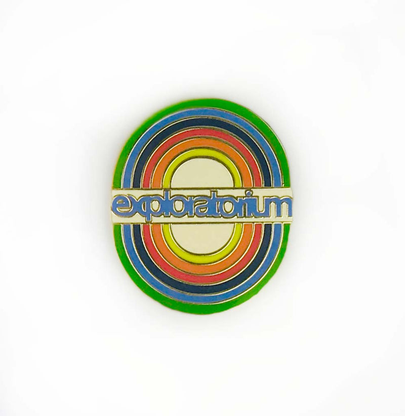 Exploratorium Vintage Rainbow Enameled Pin