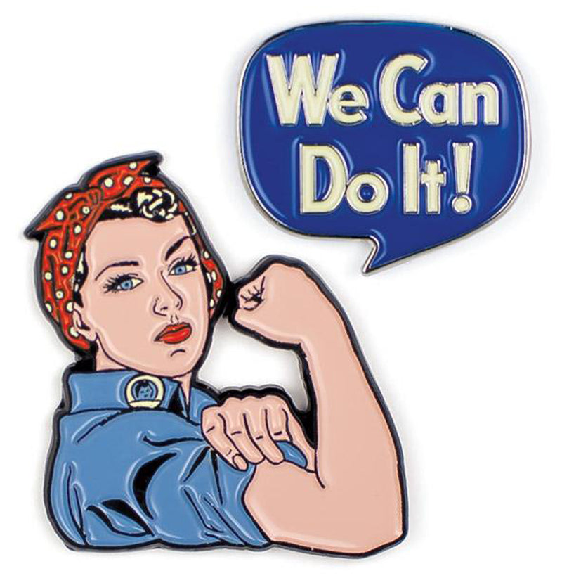 Rosie the Riveter and We Can Do It Enameled Pin Set