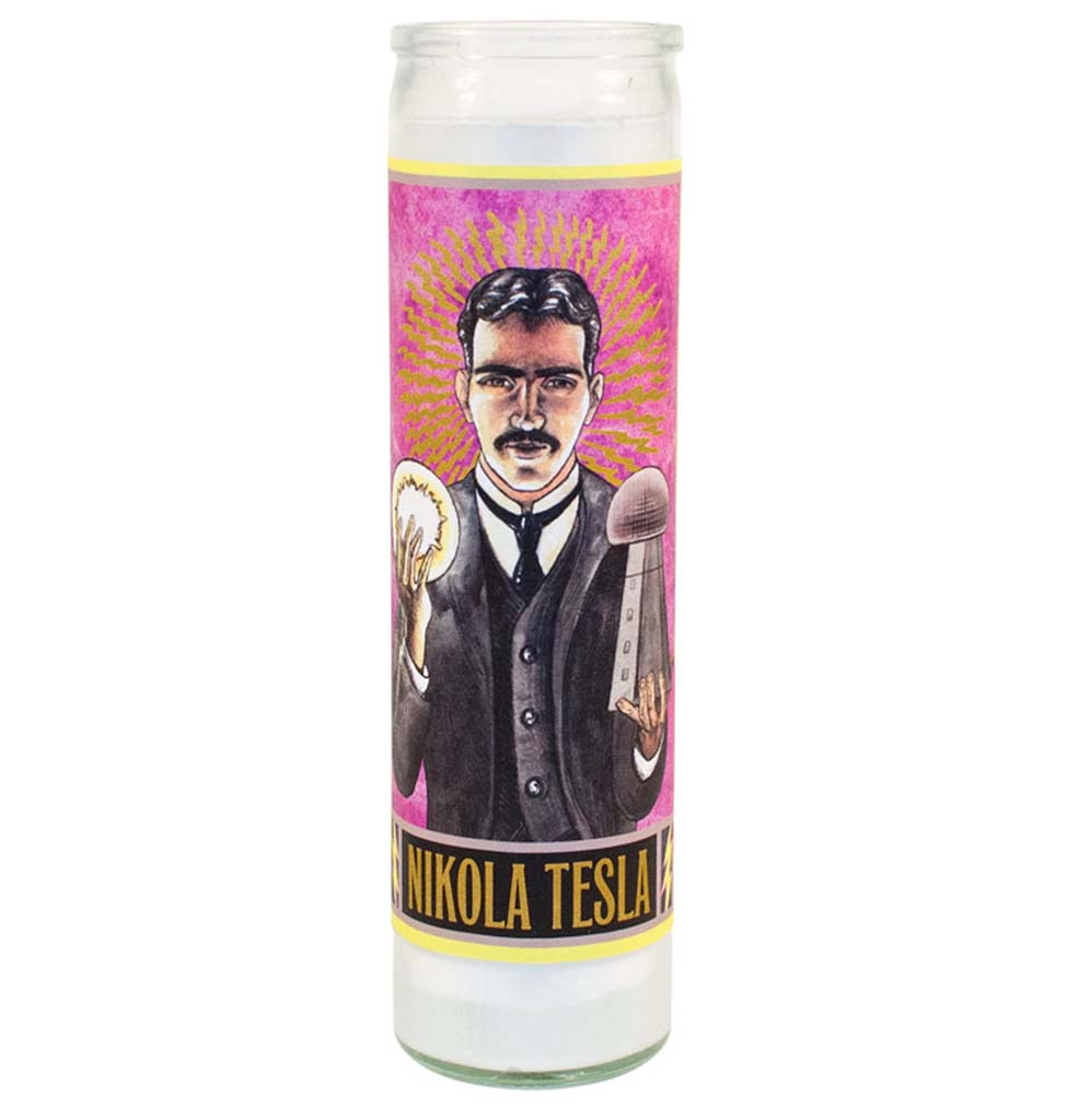 Nikola Tesla Secular Saints Candle