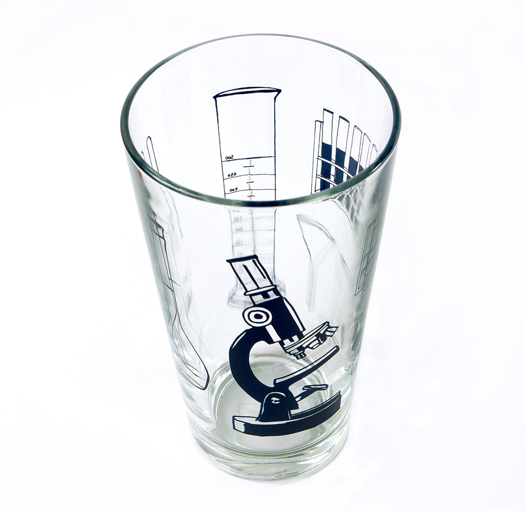 Science Tools Pint Glass