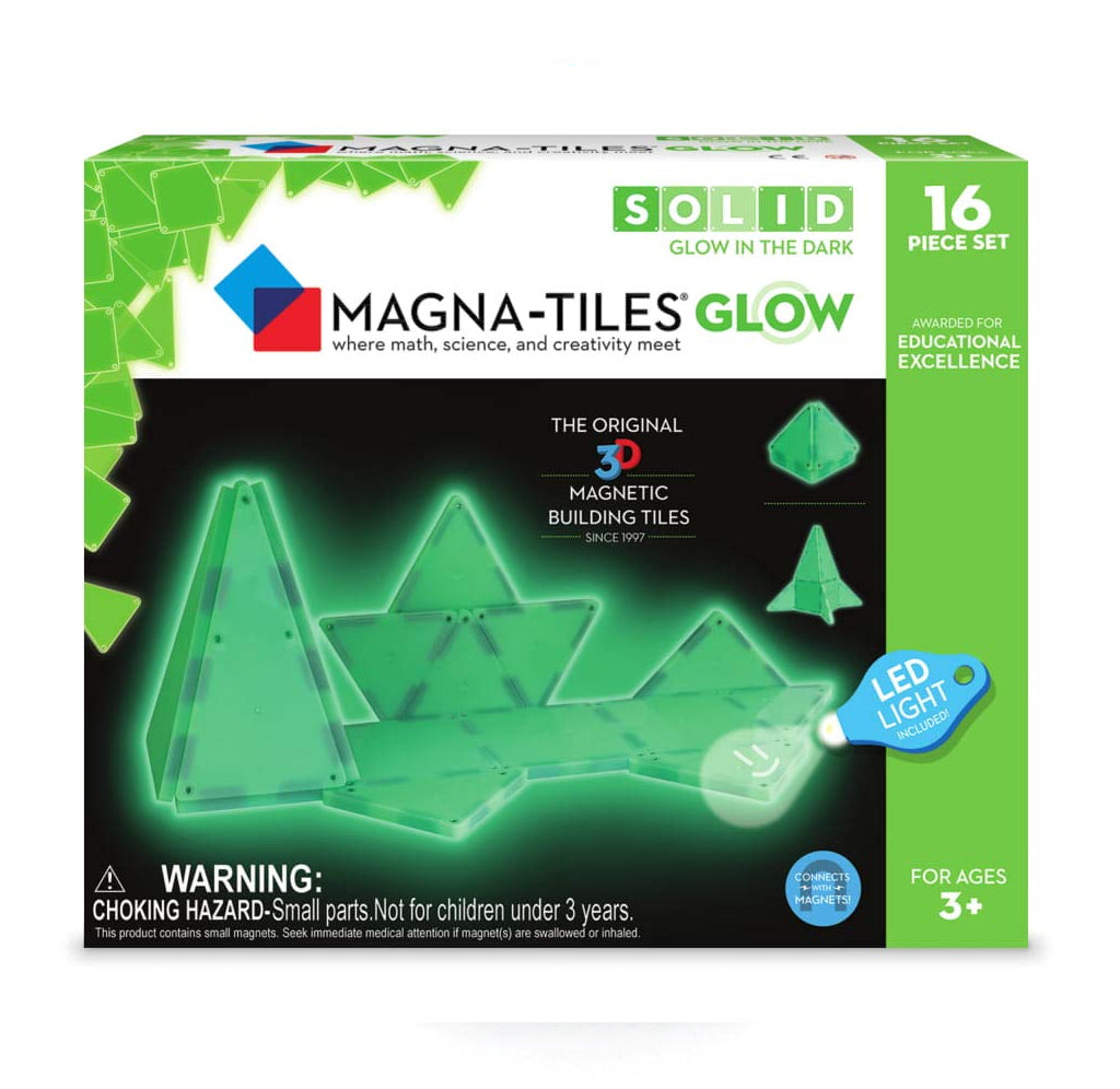 Magna-Tiles Glow in the Dark - 16 Piece Set