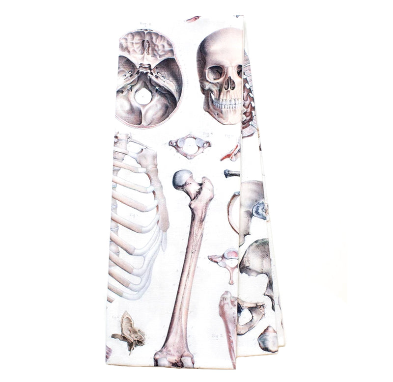 Skeleton Printed Tea Towel