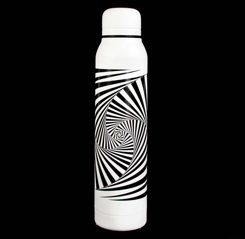 Exploratorium Time Warp Optical Illusion Insulated Water Bottle