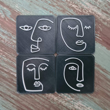 Load image into Gallery viewer, Ethnic Woman Line Art Faces - Set 01 - Polymer Clay Stamp