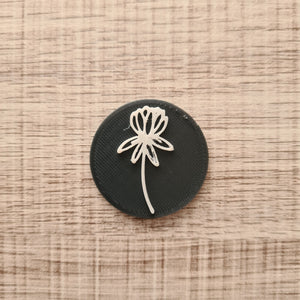 Flower 02 - Polymer Clay Stamp