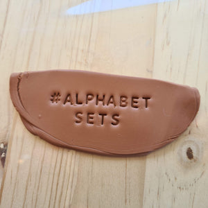 Alphabet Letter Stamp Set / Stamp - Polymer Clay Accessories