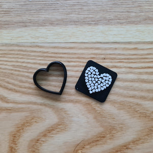 Heart 01 - Polymer Clay Stamp