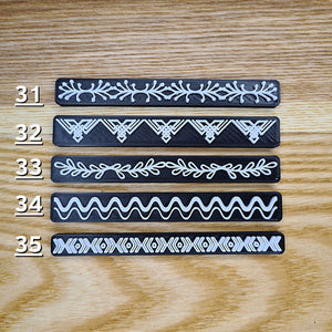 Border Strip Stamps - Polymer Clay Stamps
