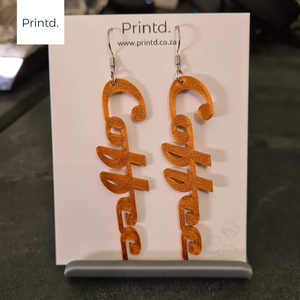 Coffee - Words Earrings