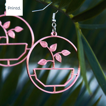 Load image into Gallery viewer, Pot Plant - Earrings