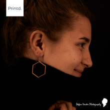 Load image into Gallery viewer, Hexagon - Geometric Earrings