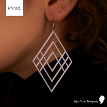 Load image into Gallery viewer, Large Layered Triangle - Earrings