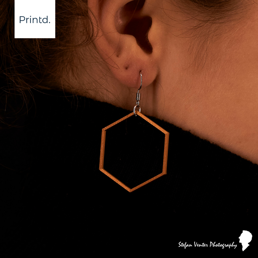 Hexagon - Geometric Earrings