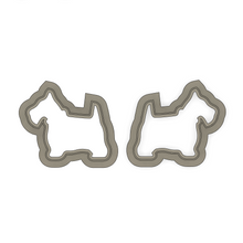 Load image into Gallery viewer, Scotty Dog Studs 01 - Polymer Clay Cutter