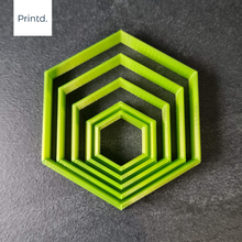 Load image into Gallery viewer, Hexagon - Polymer Clay Cutters