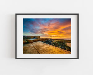 Beadnell Limekilns at Sunrise, Northumberland coast