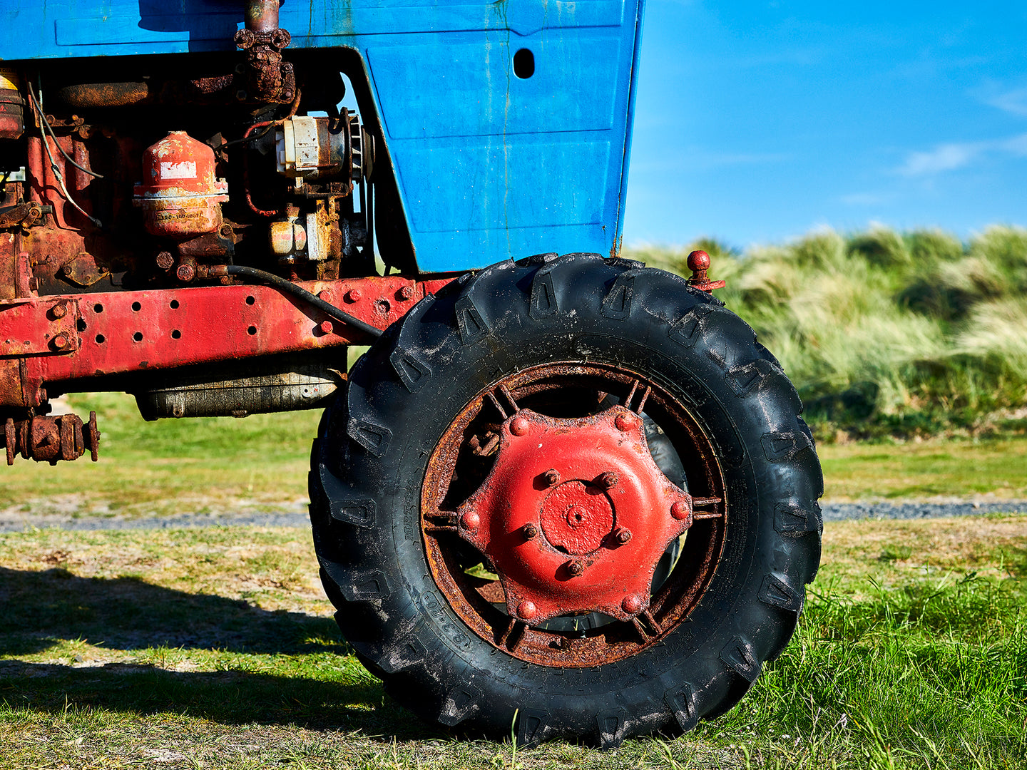 Beadnell Tractor, Northumberland coast, North East England