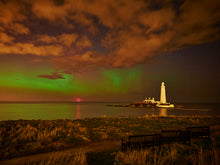 Load image into Gallery viewer, Northern Lights - St Mary's Lighthouse