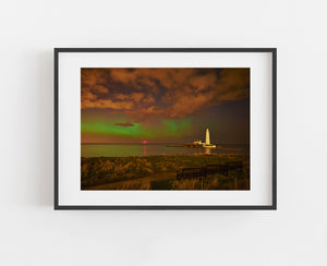 Northern Lights - St Mary's Lighthouse