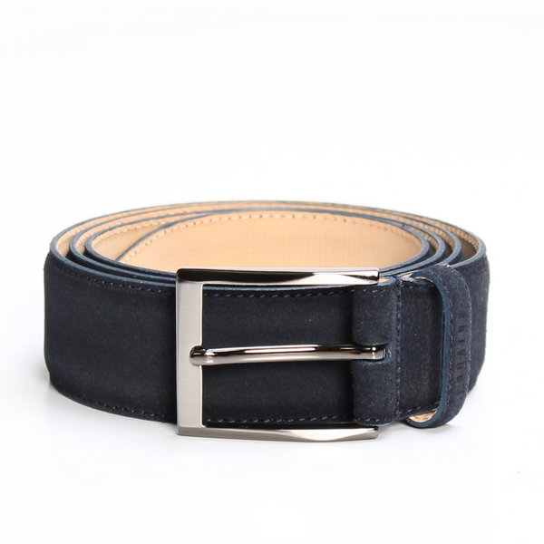 Navy Blue Suede Belt