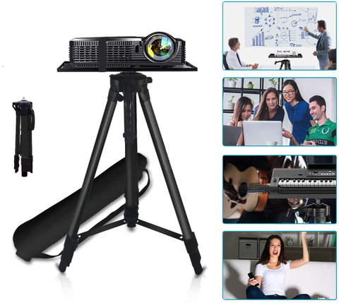 Support Trépied de Vidéoprojecteur en Aluminium Adjustable 50-145 cm