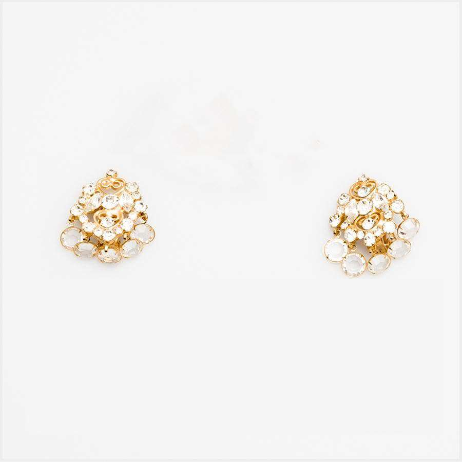 1960s Juliana for D&G Gilt and Paste Cha Cha Earrings