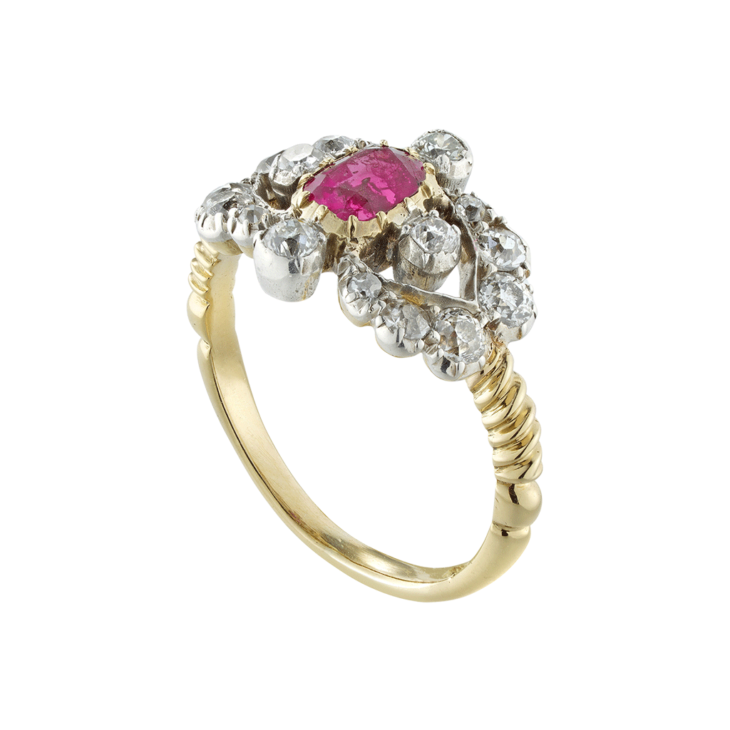 Victorian Ruby And Diamond Ring