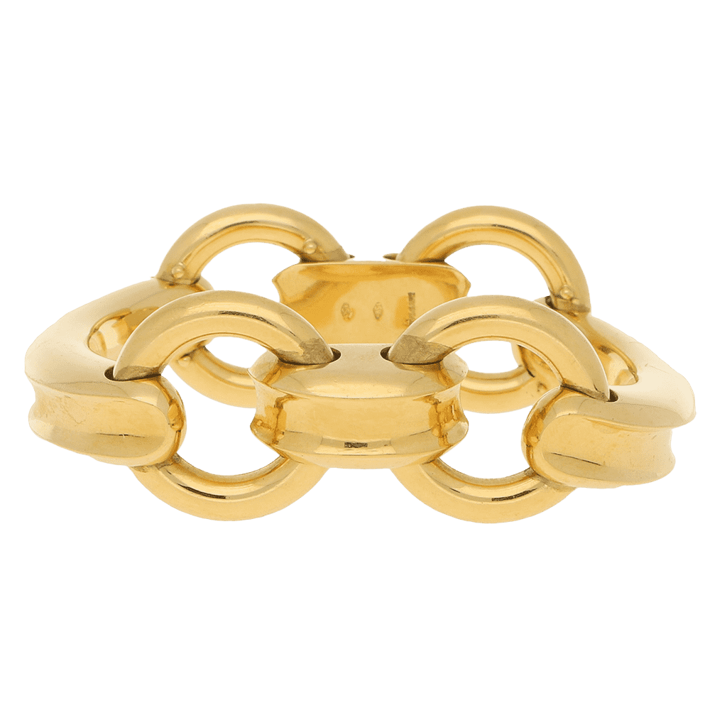 Bulgari Horse's Bit Bracelet in 18 Carat Yellow Gold