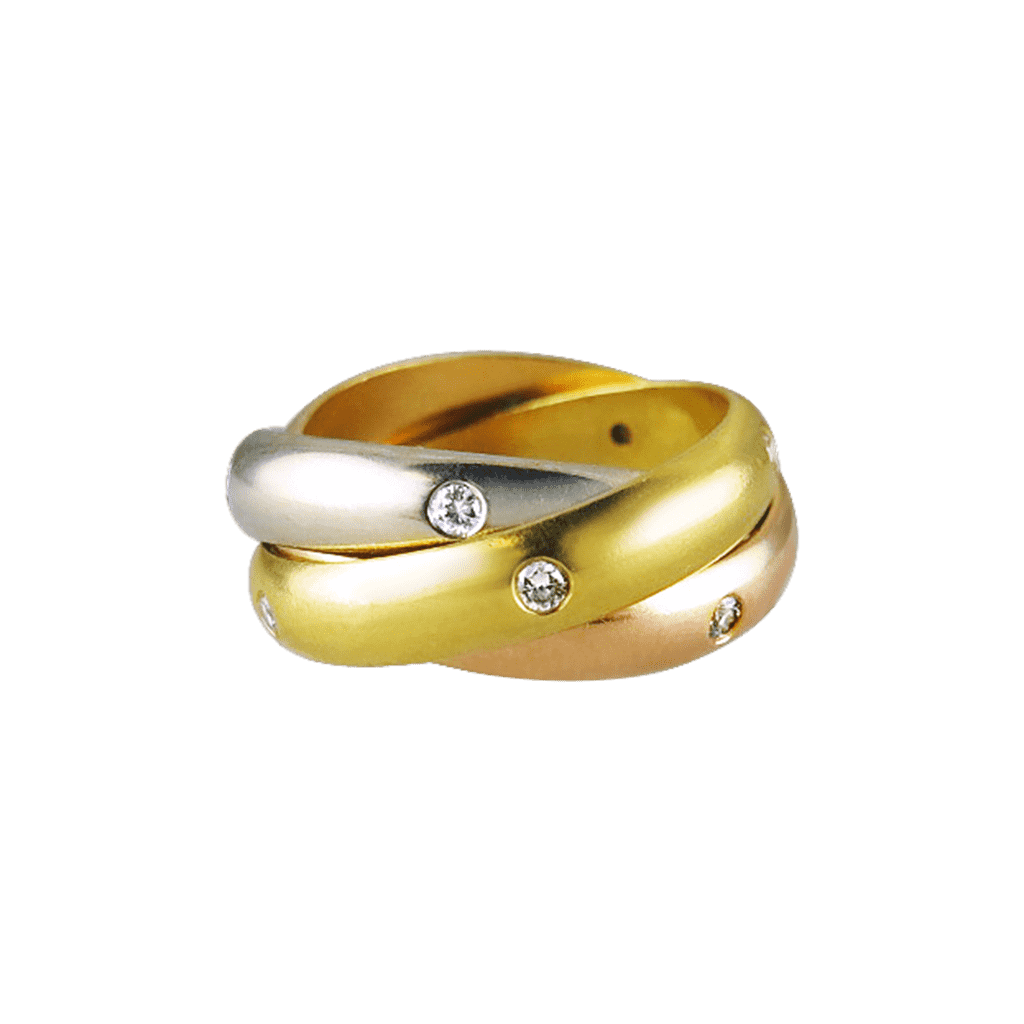Cartier Diamond-Set Trinity Ring