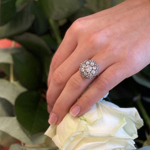 Unsigned Diamond Cluster Ring