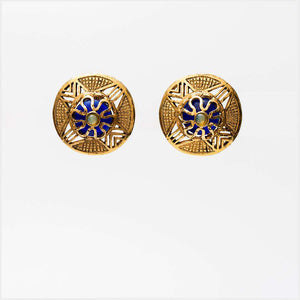 1980s Dominique Aurientis Paris Gilt Circular Big Filigree Earrings
