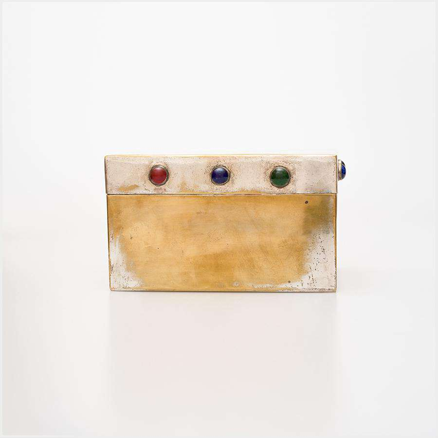 Unsigned 1920s/1930s Jewelled EPNS Box
