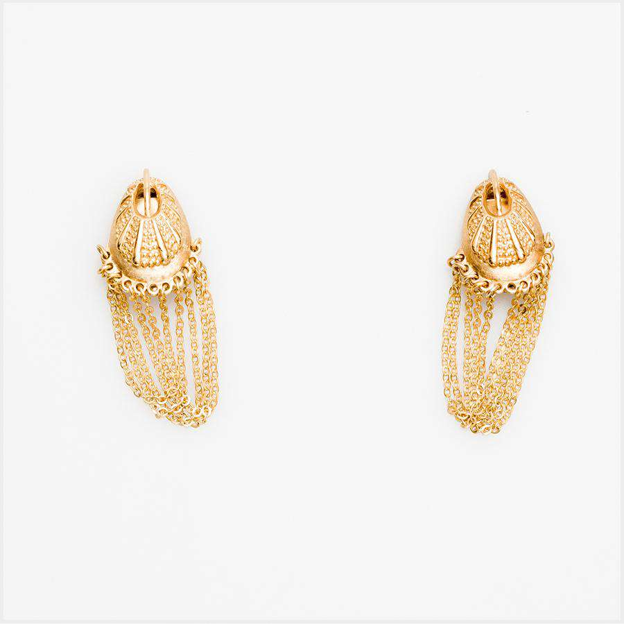 1960s Unsigned Tortolani Chain Drop Earrings