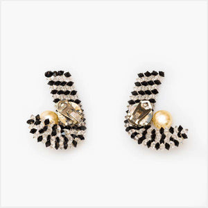 1960s Candy Cane Earrings in the style of Coppola E Toppo