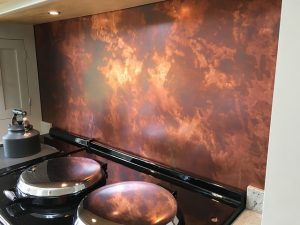 Aged Copper Backsplash Kitchen Trend