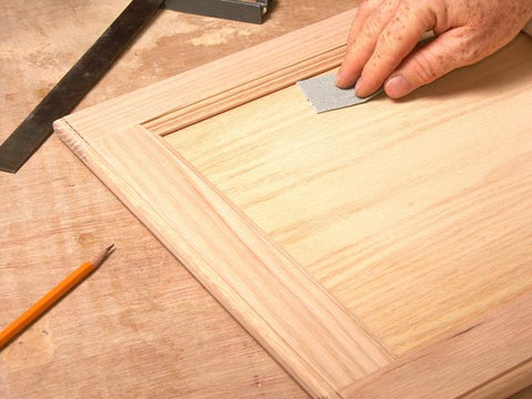Sanding your kitchen cabinets