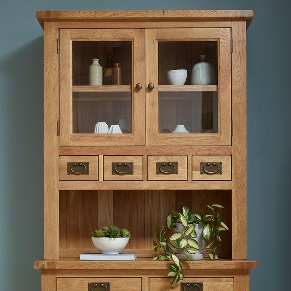 4 Drawer 2 Door Hutch