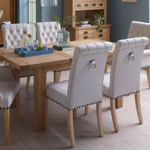 Vancouver Petite Extending Dining Set 1 Table with 6 Chairs