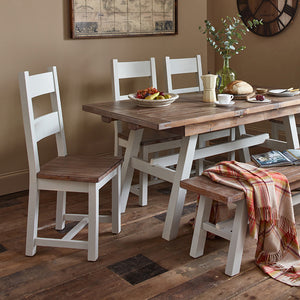Hamptons Dining Set 1 Table with 6 chairs