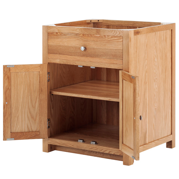 KIC001 - Oak Drop-in Sink Cabinet with 2 Doors and False Drawer
