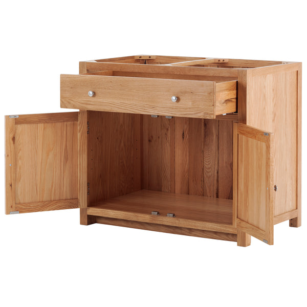 KIC002 - Oak Large Base Cabinet with 2 Doors and 1 Drawer