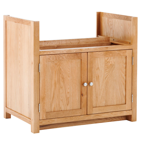 KIC003 - Oak Large Double Belfast Sink Cabinet